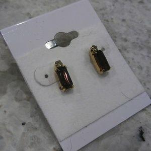 🎀 Gemstone diamond earrings